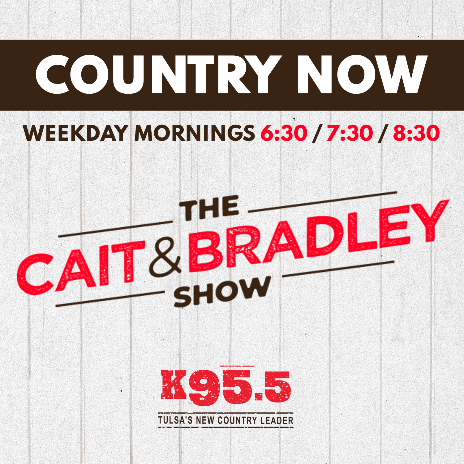 K95.5 Cait and Bradley Country Now