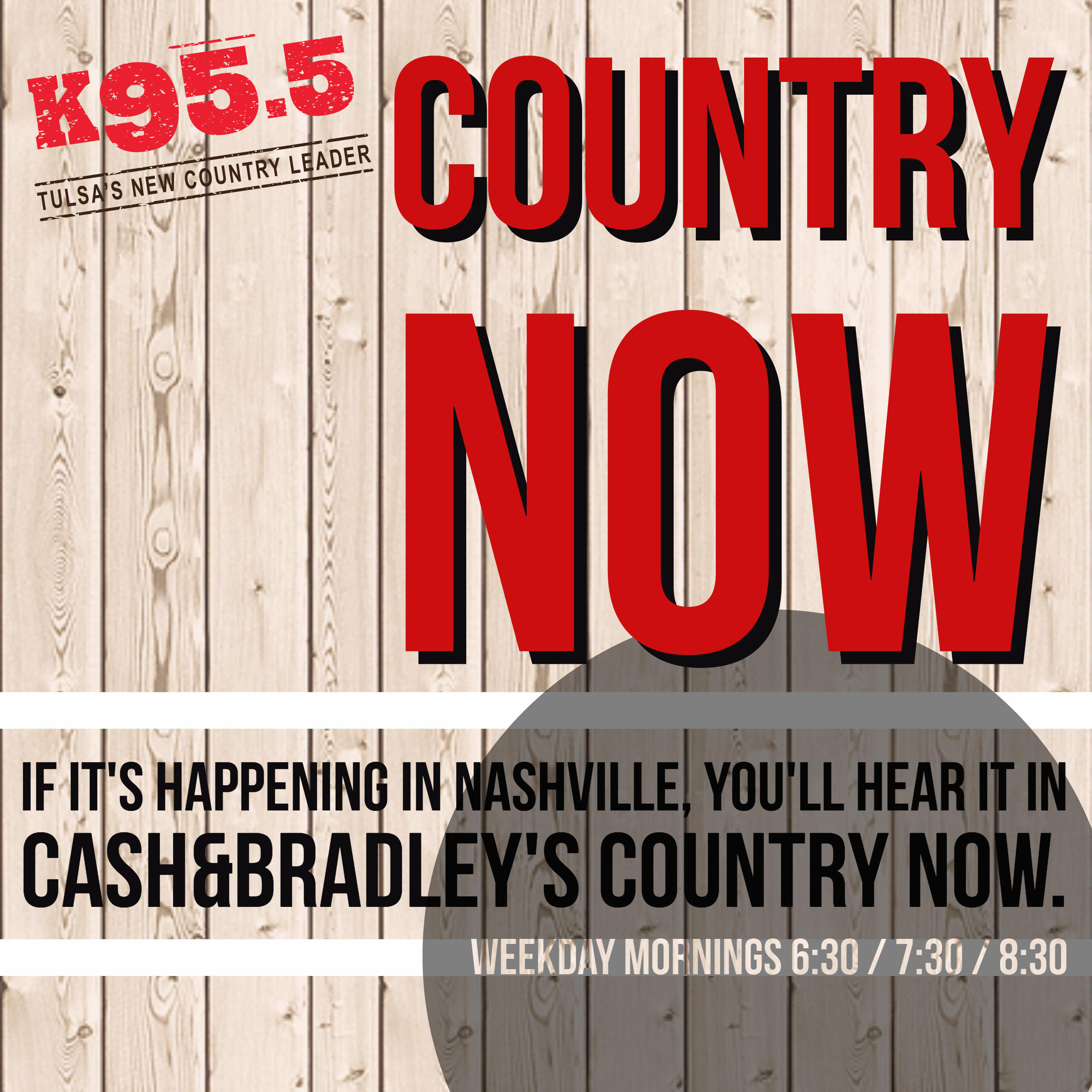 K95.5 Cash and Bradley Country Now